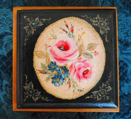 ノートパッドの薔薇の箱