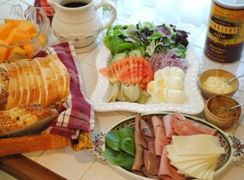 オープンサンドイッチ