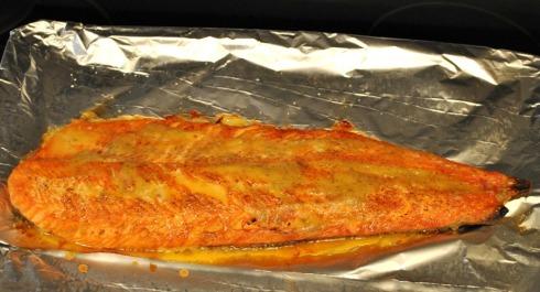 鮭のディルマスタードソース掛け