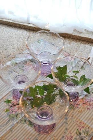 お花のグラス