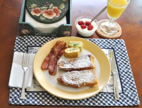 フレンチトースト朝食
