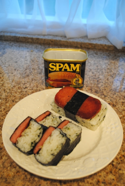 Spam musubi in mainland