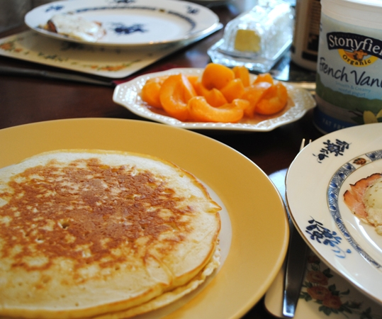 パンケーキ朝食