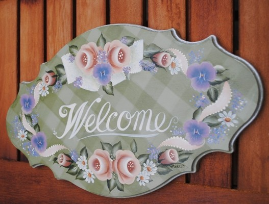 Pansy & Rose Welcome Board