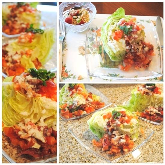 wedge lettuce salad