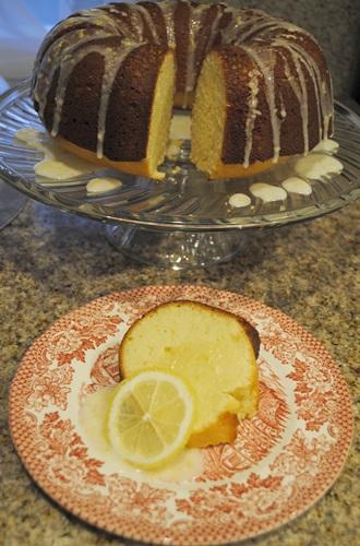 lemon sourcream pound cake